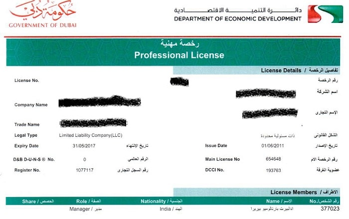 Cheap business license Dubai